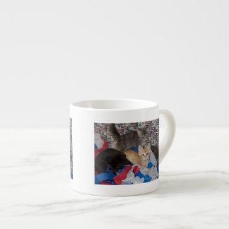 Loki's Litter in Red, White, & Blue Espresso Cup