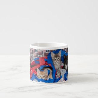 Loki's Litter in Red, White, & Blue Espresso Espresso Cup