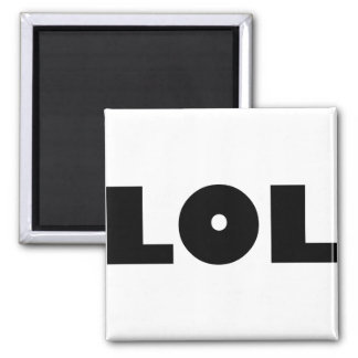 LOL 2 INCH SQUARE MAGNET