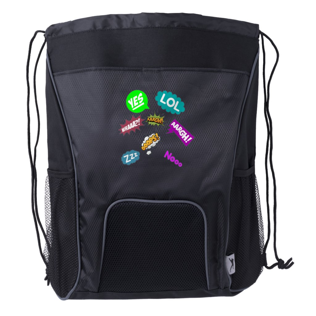 Lol Argh And More Cute Sayings Drawstring Backpack