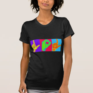 LOL ASL Sign Language Design Tee Shirt