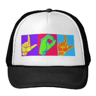 LOL ASL Sign Language Design Trucker Hat