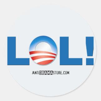 LOL at Obama Classic Round Sticker