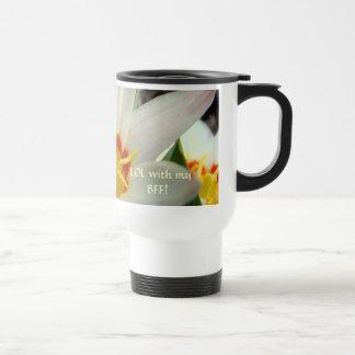 LOL BFF Travel Coffee Mug Gift TULIP FLOWERS