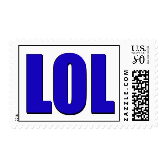 LOL blue Postage