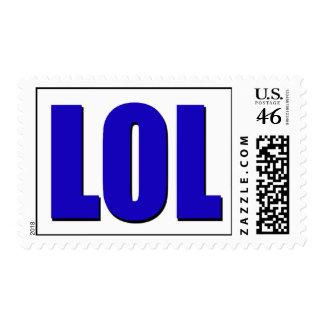 LOL blue Postage Stamp