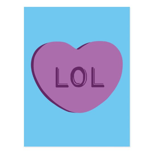 LOL Candy Heart Postcard