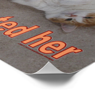 LOL CAT: ai calld jeny craig-but den ai eeted her Print