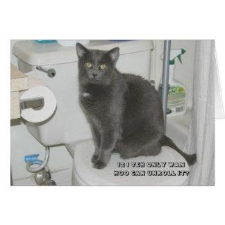 lol cat greeting card