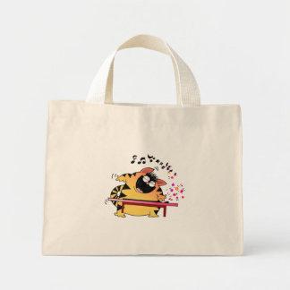 LOL Cats   Fat Cat Musician Mini Tote Bag