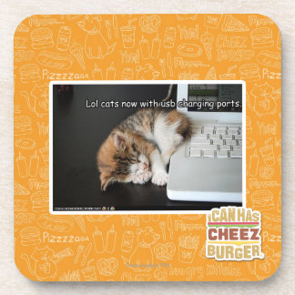 Lol cats with USB Coaster