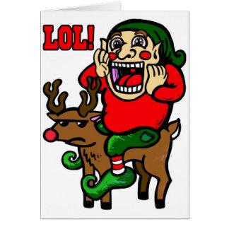 LOL Christmas Elf Greeting Card