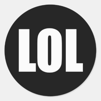 LOL (dark) Classic Round Sticker