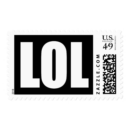 LOL (dark) Postage Stamps