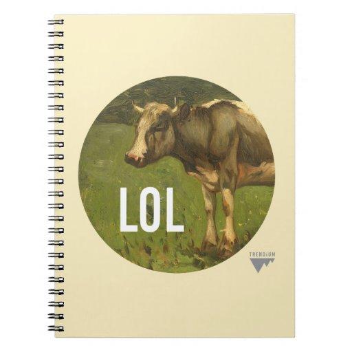 LOL dice la vaca - subtítulos del arte de Trendium Cuadernos
