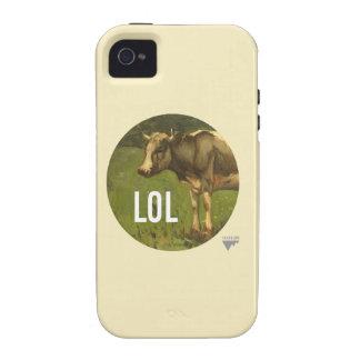 LOL dice la vaca - subtítulos del arte de Trendium iPhone 4 Funda