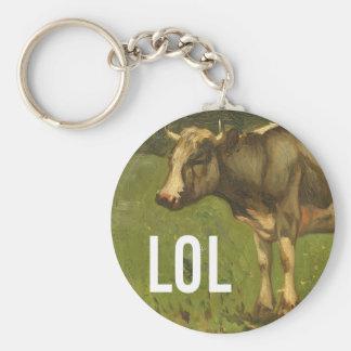 LOL dice la vaca - subtítulos del arte de Trendium Llaveros