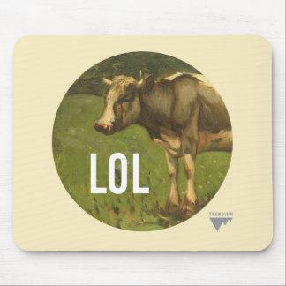 LOL dice la vaca - subtítulos del arte de Trendium Mouse Pad