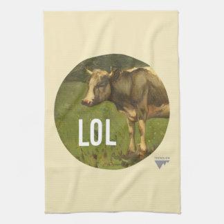 LOL dice la vaca - subtítulos del arte de Trendium Toallas De Mano
