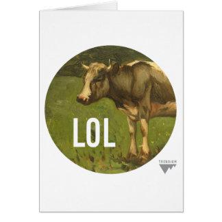 LOL dice la vaca - subtítulos del arte de Trendium Tarjeta De Felicitación