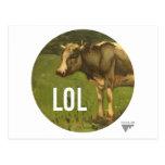 LOL dice la vaca - subtítulos del arte de Trendium Postal