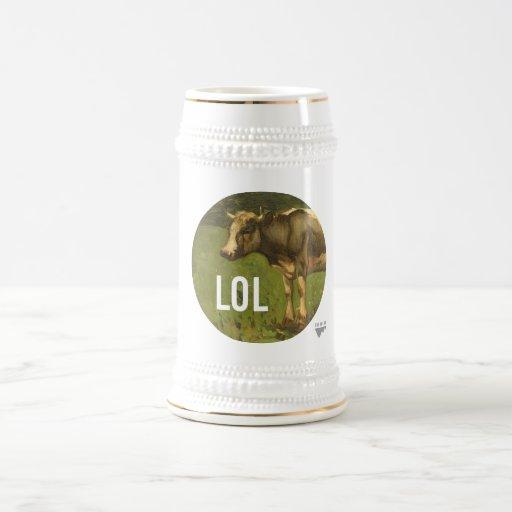LOL dice la vaca - subtítulos del arte de Trendium Jarra De Cerveza