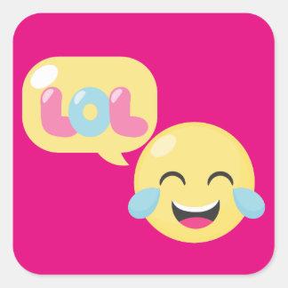 LOL Emoji Bubble Square Sticker