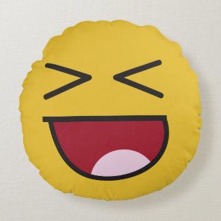 lol. emoji round pillow