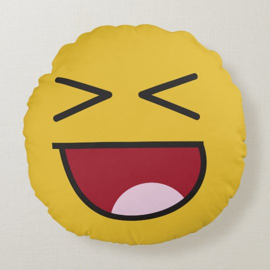 lol  emoji round pillow
