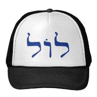 LOL en gorra hebreo
