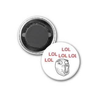 LOL FACE MEME 1 INCH ROUND MAGNET
