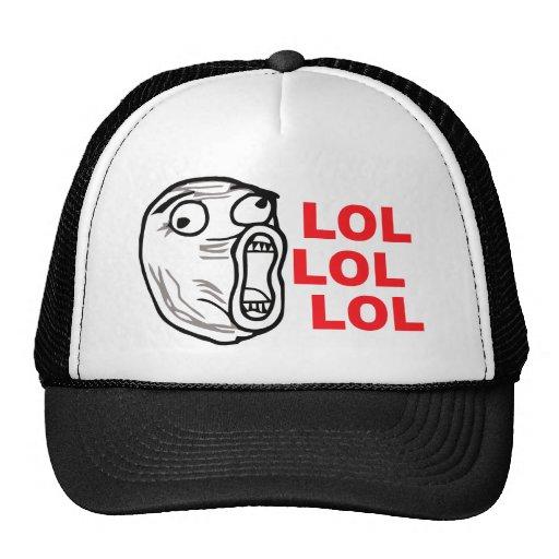 lol face meme humor rofl omg omfg trucker hat zazzle. Black Bedroom Furniture Sets. Home Design Ideas
