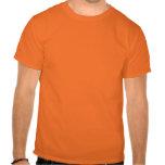 lol. fame (cyan - lime green on athletic orange) t shirt