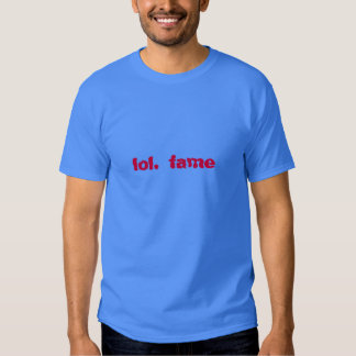 lol. fame (strong red on palace blue) tee shirt