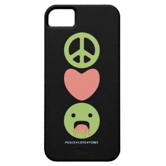 LOL funny smilie peace love vomit iPhone 5 Cases