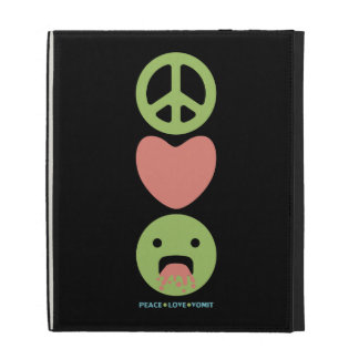 LOL funny smilie peace love vomit iPad Cases