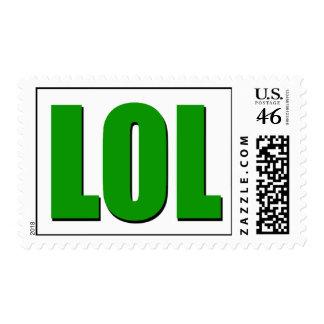 LOL green Postage