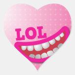 LOL heart sticker