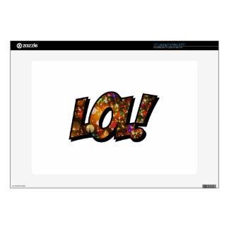 "LOL Laugh Out Loud Bokeh 15"" Laptop Skins"