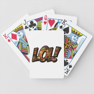 LOL Laugh Out Loud Bokeh Bicycle Playing Cards