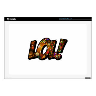 LOL Laugh Out Loud Bokeh Decals For Laptops