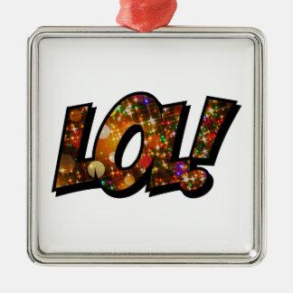 LOL Laugh Out Loud Bokeh Metal Ornament