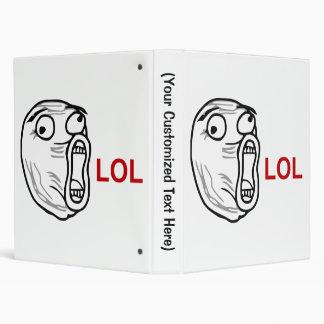 LOL Laugh Out Loud Rage Face Meme 3 Ring Binder
