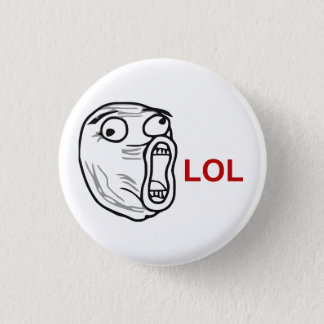 LOL Laugh Out Loud Rage Face Meme Button