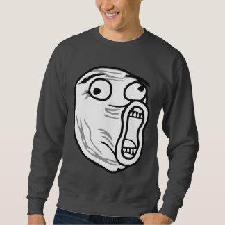 LOL Laugh Out Loud Rage Face Meme Pullover Sweatshirt
