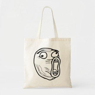 LOL Laugh Out Loud Rage Face Meme Tote Bag