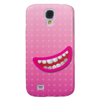 LOL laughing mouth with teeth cute! Galaxy S4 Covers