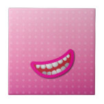 LOL laughing mouth with teeth cute! Ceramic Tile
