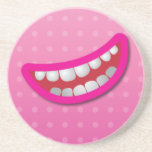 LOL laughing mouth with teeth cute! Drink Coaster