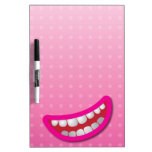 LOL laughing mouth with teeth cute! Dry Erase Whiteboards